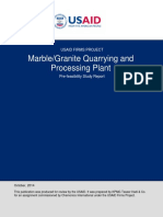 Marble - Granite Quarrying and Processing Plant Prefeasibility Study