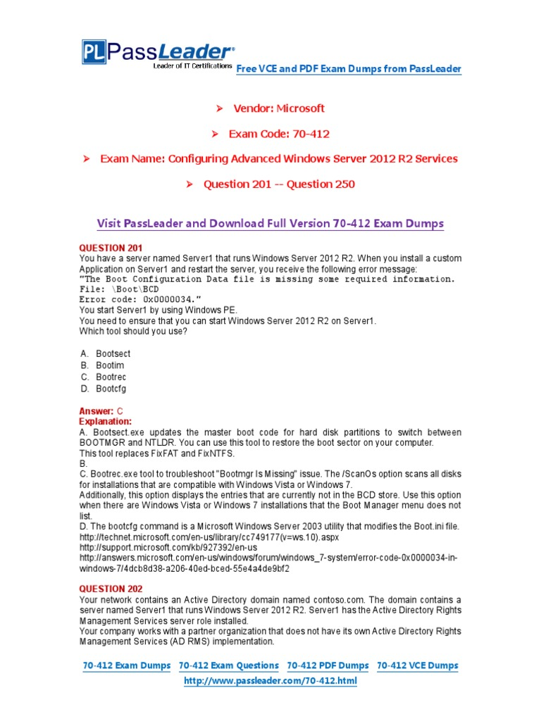70 412 exam dumps with pdf and vce download 201 250pdf active 70 412 exam dumps with pdf and vce download 201 250pdf active directory hyper v xflitez Image collections
