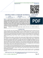 GEOPOLYMER AS REPAIR MATERIAL - A REVIEW
