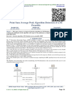 Point Sum Average Peak Algorithm Detection of LTE