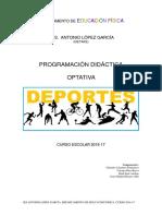 Departamento de Educación Físic1 Optativa Deporte 2016-17