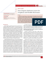Non-Organic Dielectric Layers for Graphene and Flexible Electronics