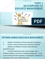 TOPIC 1 -  An Overview of HRM.ppt