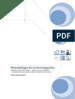 Manual de Metodología de la Investigación. TIPOS DE ESTUDIO. NIVELES DE INVESTIGACIÓN