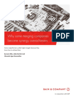 BAIN BRIEF Why Some Merging Companies Become Synergy Overachievers