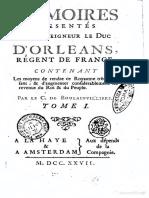 Mémoires à Mgr d'Orléans