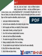Logical Reasoning 9(Tabular Arrangement)