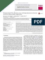 Applied Surface Science Volume 280 Issue 2013 [Doi 10.1016_j.apsusc.2013.05.021] Yuan, Bao; Wang, Yan; Bian, Haidong; Shen, Tiankuo; Wu, Y