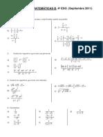 Ejercicios de Matemáticas 4º