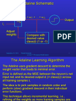 The Adaline Learning Algorithm