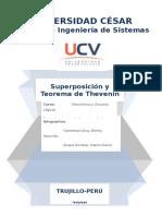 Superposicion y thevenin Divisor de tensión corriente