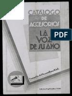 Catalogo Gramófono La voz de su Amo