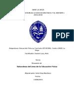 Naturaleza Del Área de La Educación Física. lic. Uriel Diaz Mari