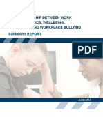 Wellbeing Depression Bullying Summary Report
