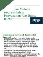 Penerapan Metode Regresi Dalam Penyusunan Alat Bantu IHMB