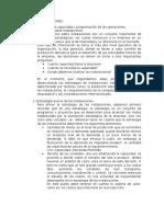 Planeacion de La Capacidad y Prog. de Operaciones