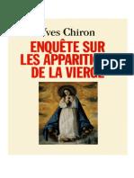 Enquête Sur Les Apparitions de La Vierge - Yves Chiron