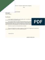 Sample Application Letter for Teacher Applicants
