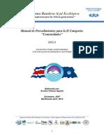 Manual de Procedimientos Para La Categoría de Comunidades PBAE 2013