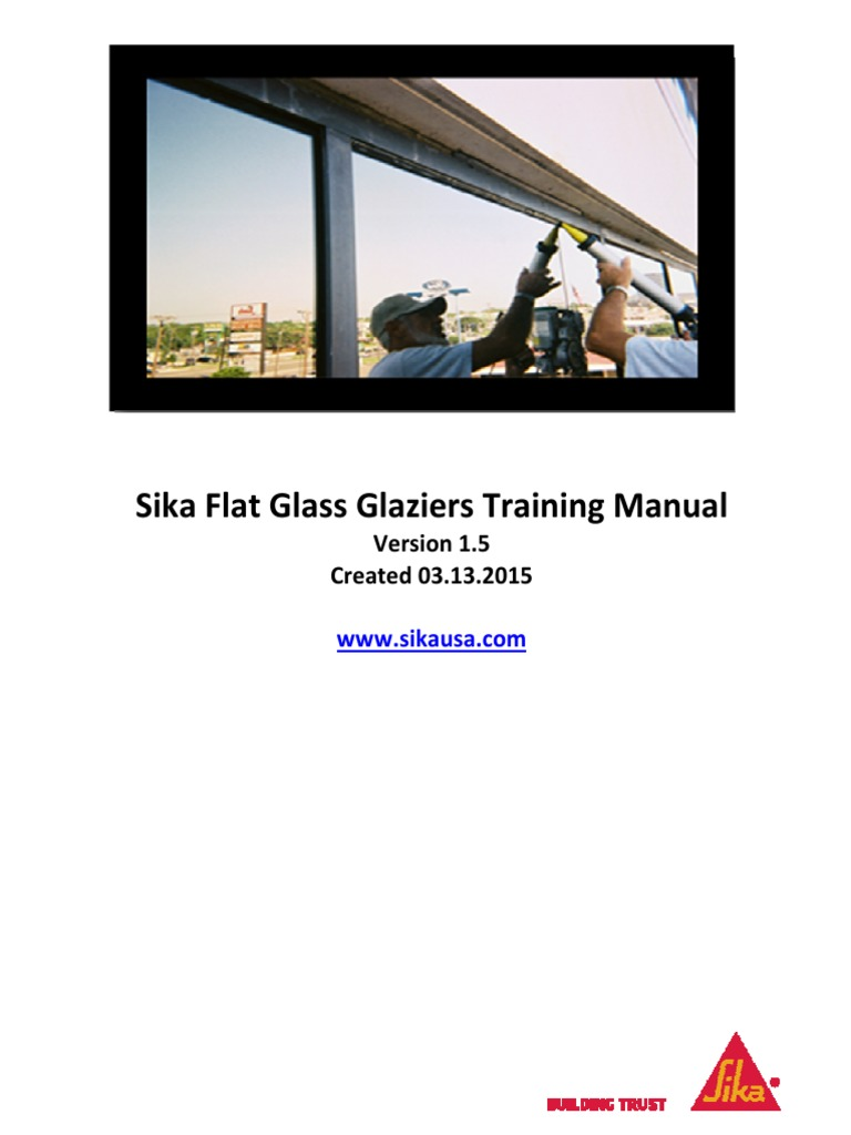 Sika Flat Glass Training Manual | Silicone | Paint
