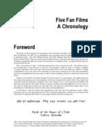 Five Fan Films, A Chronology 1 3