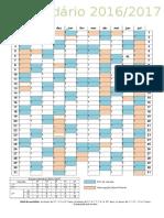 Calendario Letivo 2016-17