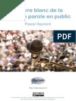 Livre Blanc Prise Parole Public P7R