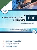 Materi 06 Endapan Pegmatitik Dan Kontak Metasomatisme