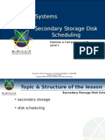 Operating System Seconday Storage Disk Scheduling Algorithms