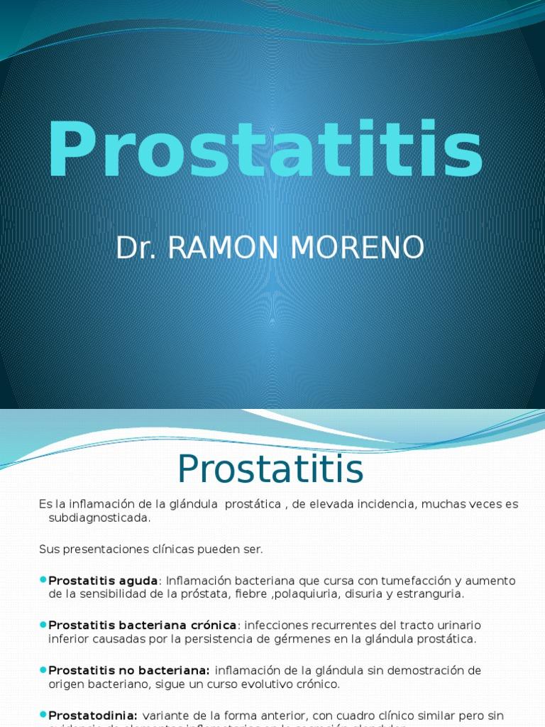 qué bacterias buscar en la prostatitis crónica ca