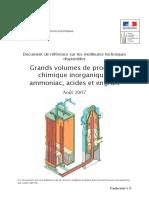 Grands Volumes de Produits Chimique Inorganiques Ammoniac, Acides Et Engrais