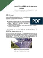 Impacto Ambiental Por La Construccion de Hidroelectricas en El Ecuador