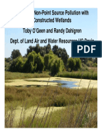 Mitigating Non-Point Source Pollution With Constructed Wetlands