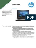 Datasheet HP ProBook 640 G2 ESP