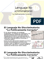 El Lenguaje No Discriminatorio