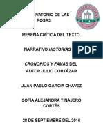 CONSERVATORIO DE LAS ROSAS LITERATURA´PROYECTO PRIMER PERIODO