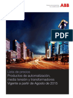 Lista de Precios ABB 2015 a 2016