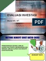 evaluasi investasi BCR