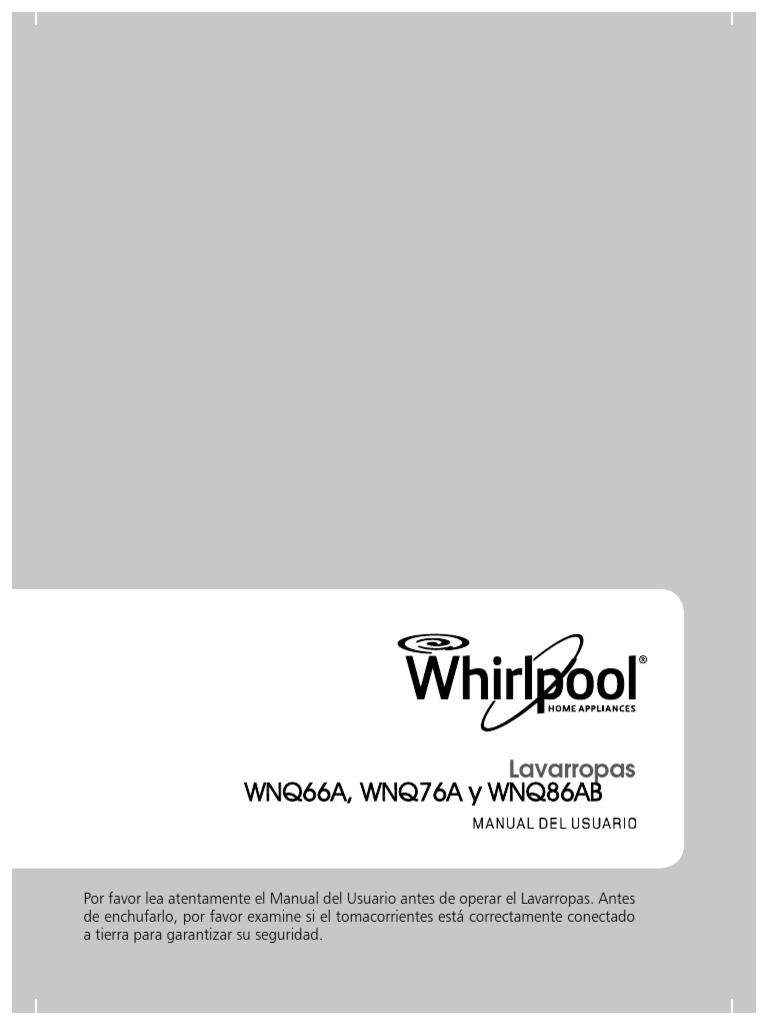manual lavarropas whirlpool wfe71a