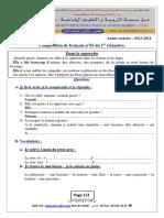 T6_examen Et Corrige n03 Francais 2e Sujet 2014 3AP T1