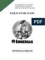 Eolo Star 23 Kw Instrukcja