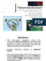 Telecom Security Issues - Documents