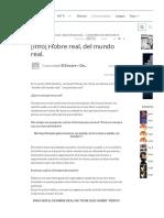 [Info] Hobre Real, Del Mundo Real