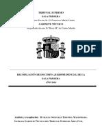 Recopilación Doctrina Jurisprudencial Sala Primera 2014