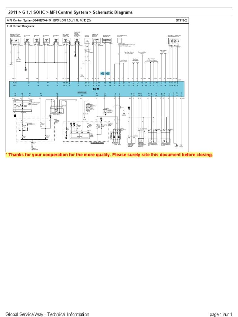 Hyundai I10 Electrical Wiring Diagram X3 Diagrama Rh Scribd Com Stereo 2001 Accent Radio