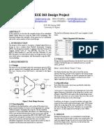 Ece 363 Design Report