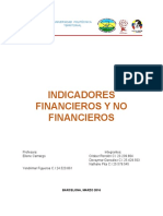 Indicadores financiero y no financieros