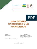 Indicadores financiero y no financieros