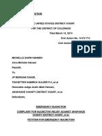 Emergency Injunction Michelle Hansen 20140324