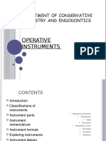 Instruments for Tooth Structure Removal